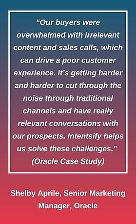 Shelby Aprile, Oracle Quote Visual